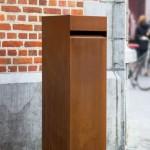 Archiduc. Karaktervolle design brievenbus in robuust cortenstaal