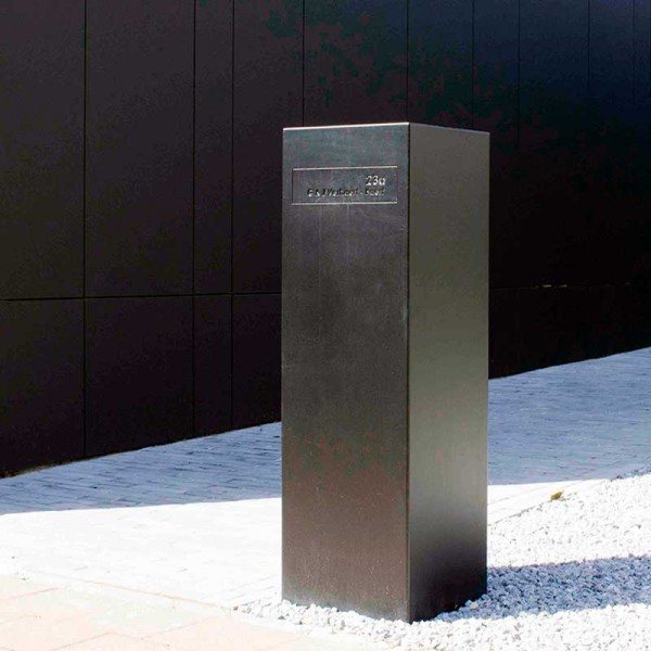 Toots 30100 zwarte compacte design brievenbus. Topklasse.
