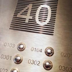 Meerdere deurbellen in 1 geheel. Belplaat voor appartement  of bedrijf