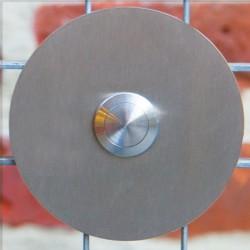 Ronde design deurbel  type E. Belknop midden.