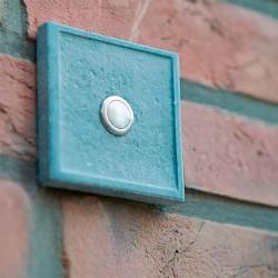 Vierkante arduinen deurbel met belknop midden