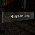 Vervangplaatje voor naambord met 5 naamplaatjes en zwarte achtergrond