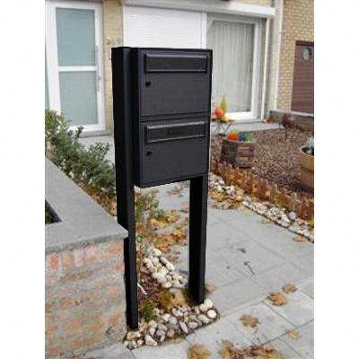 brievenbusgeheel van twee modulaire brievenbussen voor tweewoonst