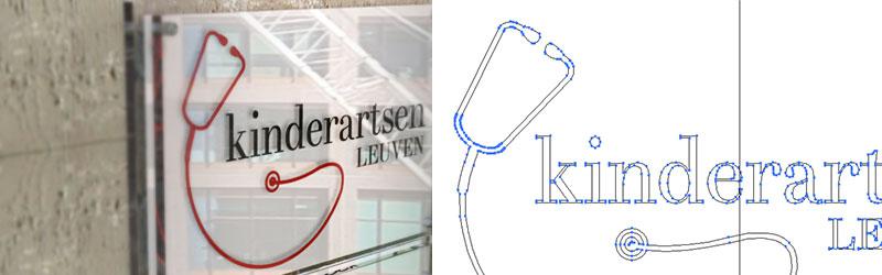 logo op naambord