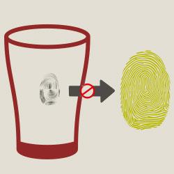 vingerafdruk copieren van glas