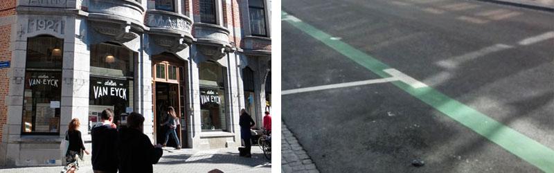 shop en go groene lijnen tiensestraat leuven
