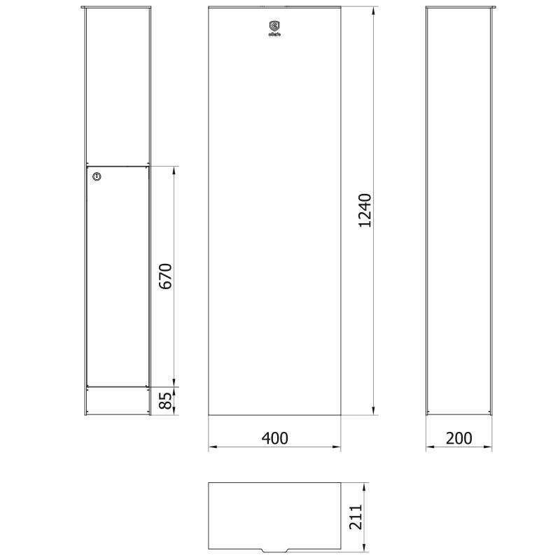 technische tekening pakjesbus zambia M