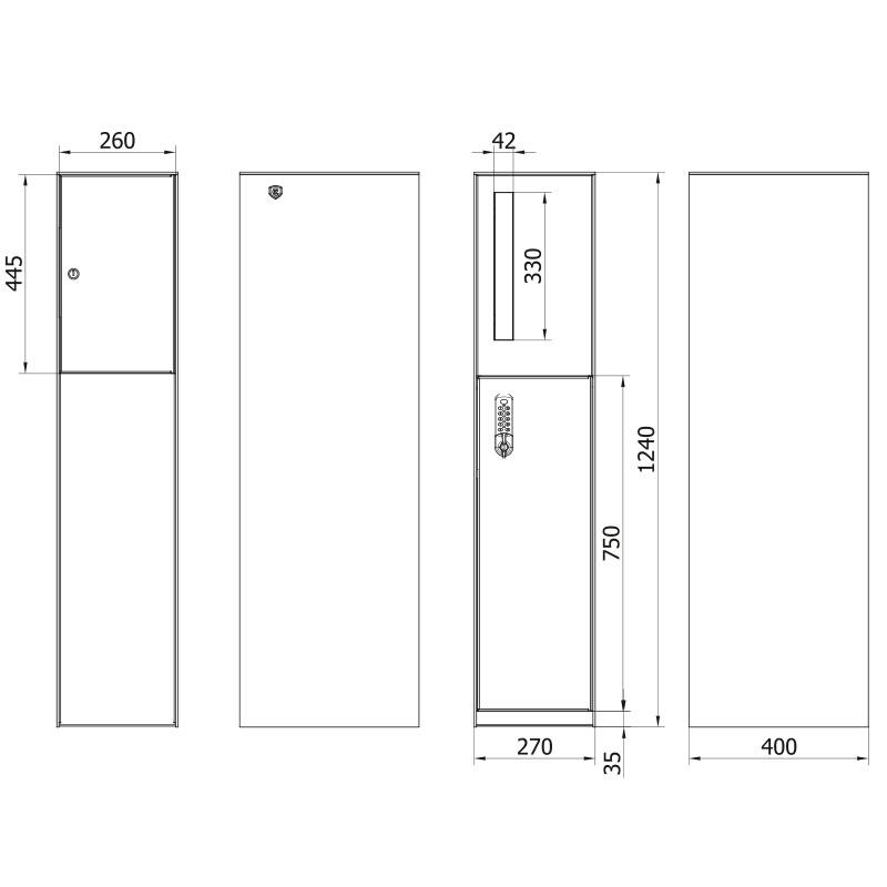 technische tekening pakjesbus zambia front