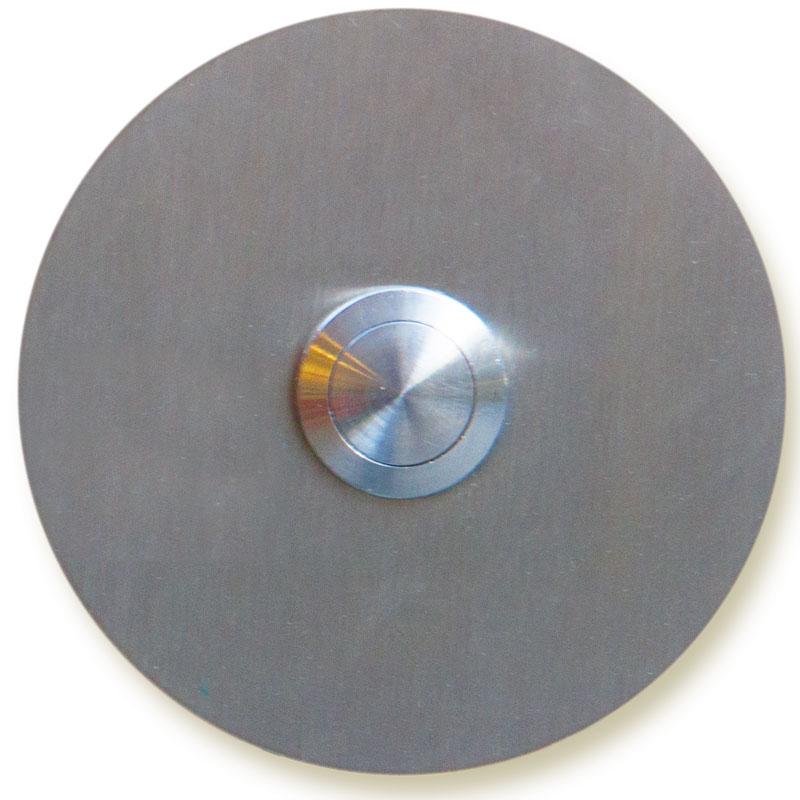 deurbel E, inox en cirkelvormig