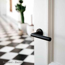 deurbeslag formani basics zwarte-deurkruk