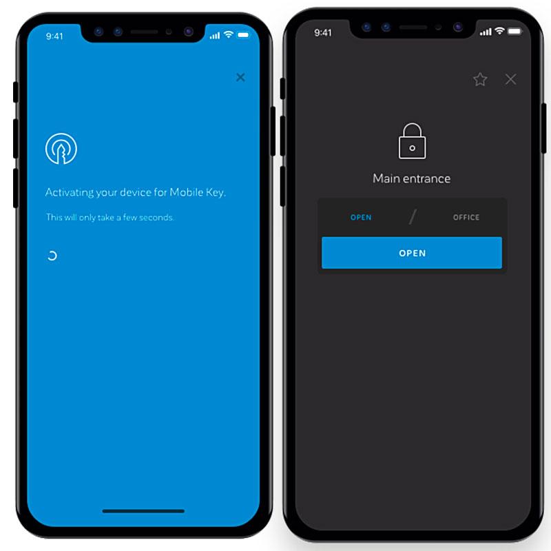 mobiele sleutel toekennen via app